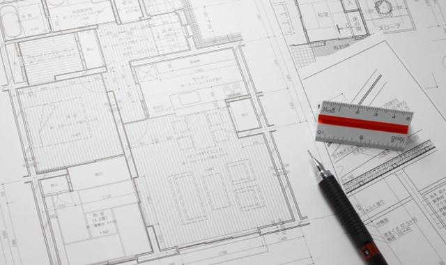 設計図 建築面積の見直し